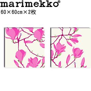 マリメッコ ファブリックパネル ケイサリンナ(Keisarinna)600×600×30mm×2枚【北欧雑貨/北欧生地】の画像