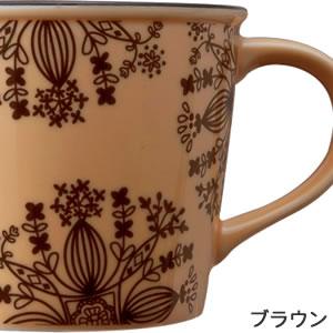 adorno(アドルノ)ホーロー風マグカップ LIEN(リアン)【北欧風食器】ブラウンの詳細画像