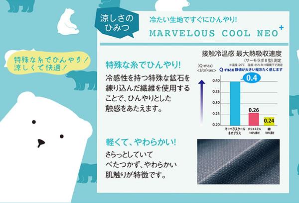 キルトラグ 夏用(マーベラスクール)190×190cm【洗える/ひんやり】の冷たさの秘密説明画像