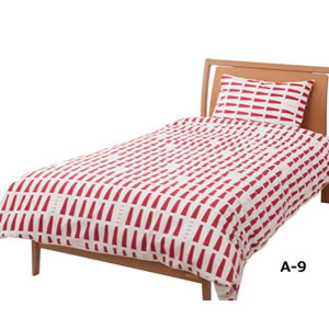 布団カバー マロニエ2(MARRONNER2)【おしゃれ/寝具】レッドの全体画像