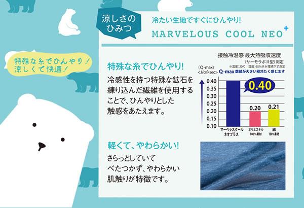ひんやりクール 肌掛け布団 ハーフ 100×140cm【寝具/春夏用】の冷たさの秘密説明画像