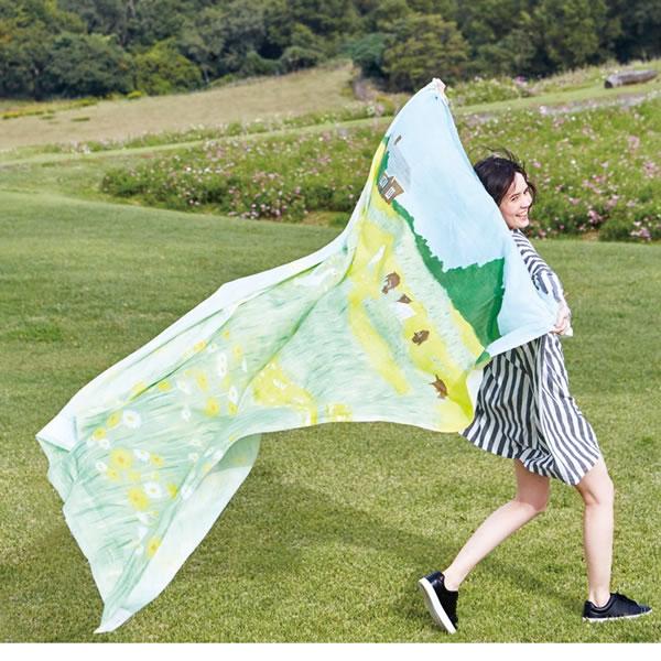 升ノ内朝子 外縫いスリッパ【おしゃれ/北欧】イエローのディスプレイ画像