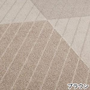アスワン 洗える ラグマット(春・夏用)素材日和 スタンシア【シンプル/おしゃれ】ブラウンの詳細画像