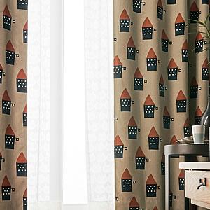 マタノアツコ(俣野温子)遮光カーテン 小さな家 1枚入【北欧インテリア】の使用詳細画像