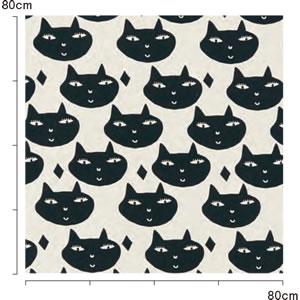 マタノアツコ(俣野温子)カーテン 猫 1枚入【北欧インテリア】のリピート画像