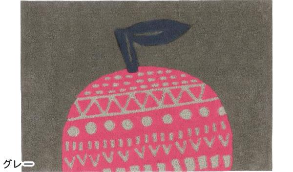 マタノアツコ(俣野温子)ラグマット プラネット【北欧インテリア】グレーの全体画像