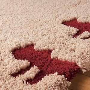 マタノアツコ(俣野温子)ラグマット シルエット猫【北欧インテリア/おしゃれ】ベージュの詳細画像