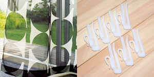 アスワンの北欧風レースカーテン クレメンツの付属品画像
