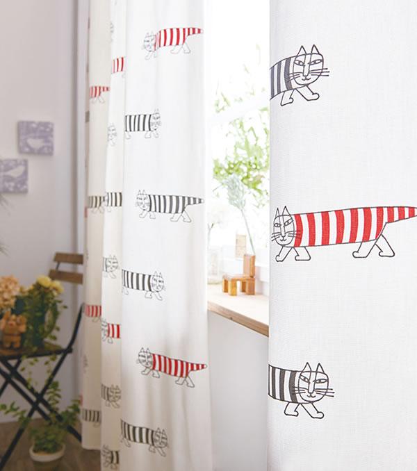 リサ・ラーソン(Lisa Larson)既製カーテン マイキー 1枚入【おしゃれ/北欧インテリア】05の展示画像