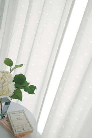 アスワンの北欧風ミラーレースカーテン フレサ 1枚入【UVカット/北欧風カーテン】の全体画像
