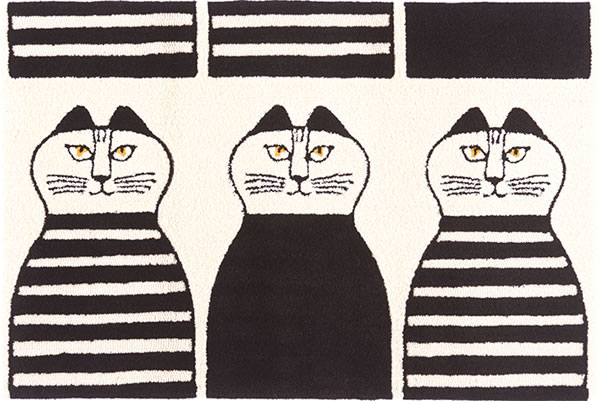 リサ・ラーソン(Lisa Larson)ラグマット ミンミ【おしゃれ/北欧インテリア】05の全体画像