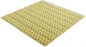 アスワン 洗えるラグマット(春・夏用)コンフェティ【防ダニカーペット】グリーンの詳細画像