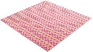 アスワン 洗えるラグマット(春・夏用)コンフェティ【防ダニカーペット】ピンクの詳細画像