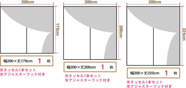 マタノアツコ(俣野温子)カーテン 猫 1枚入【北欧インテリア】の既製サイズ3種画像3