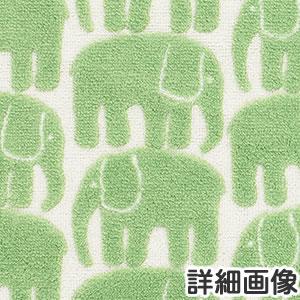 フィンレイソン 円形マット エレファンティ(ELEFANTTI)【洗える/北欧インテリア】グリーンの詳細画像