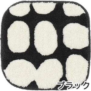フィンレイソン チェアパッド ポップ(POP)【洗える/北欧インテリア】ブラックの全体画像