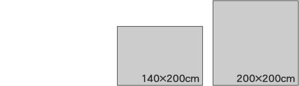 フィンレイソン ゴブラン織シェニールラグマット コロナ(CORONNA)【洗える/北欧インテリア】のサイズバリエーション画像