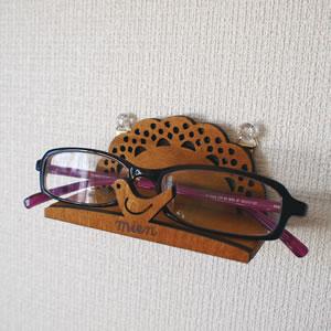 デコレ(DECOLE)mien 壁掛けホルダー【インテリア雑貨】のメガネ使用画像
