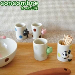 デコレ(DECOLE)concombre のぞき見つまようじ入れ【猫/キッチン雑貨】の使用画像