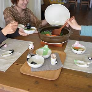 デコレ(DECOLE)concombre 温泉レンゲ【猫/キッチン雑貨】の使用画像