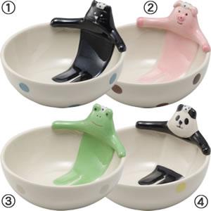デコレ(DECOLE)concombre 温泉小鉢【猫/キッチン雑貨】のタイプバリエーション画像