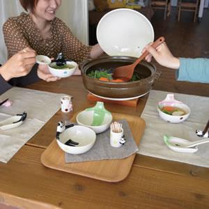 デコレ(DECOLE)concombre 温泉小鉢【猫/キッチン雑貨】の使用画像