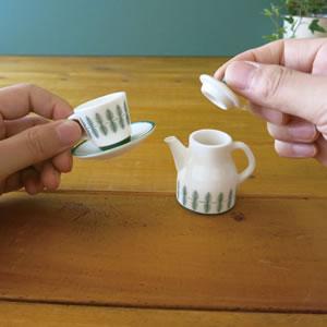 デコレ(DECOLE)KOTI ミニチュア カフェポット【陶器/北欧風雑貨】の使用画像