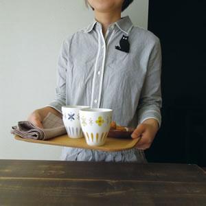 デコレ(DECOLE)LYKKA ペアカップセット【北欧風雑貨/食器/ギフト】の使用画像