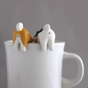 デコレ(DECOLE)お尻スプーン【柴犬とハチワレ猫/キッチン雑貨】の使用画像