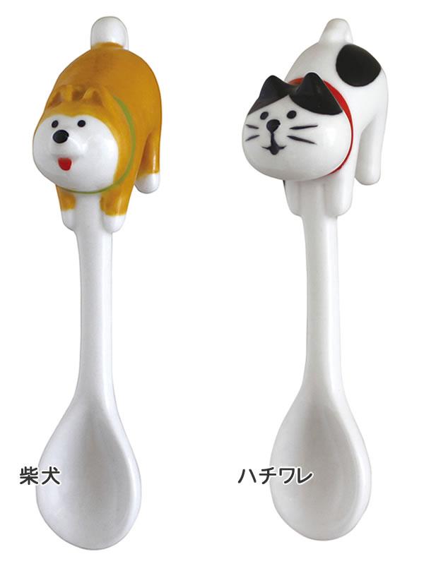 デコレ(DECOLE)お尻スプーン【柴犬とハチワレ猫/キッチン雑貨】のバリエーション画像