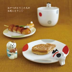 デコレ(DECOLE)おやつのとりこ皿【柴犬とハチワレ猫/キッチン雑貨】の使用画像