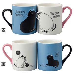 デコレ(DECOLE)じゃれ猫ペアマグ【おしゃれ/キッチン雑貨】のバリエーション画像
