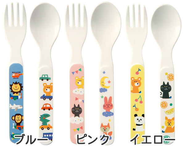 デコレ(DECOLE)PONOZKY メラミンフォーク&スプーン【子供用食器】の各種詳細画像