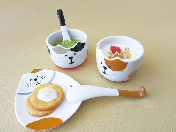 デコレ(DECOLE)コンコンブル しっぽスプーン付きデザートカップ【キッチン/食器】のディスプレイ画像