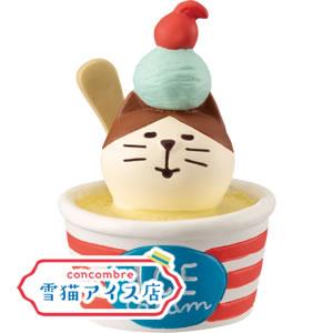 デコレ(DECOLE)コンコンブル 冷え冷えカップアイス猫【置物/ディスプレイ】の全体画像