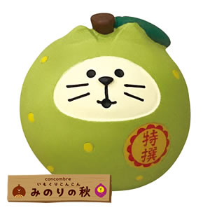 デコレ(DECOLE)コンコンブル フルーツ猫だるま 梨【置物】の全体画像