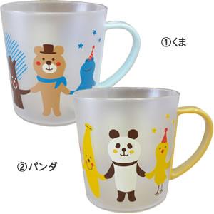 デコレ(DECOLE)プラマグカップ 各種【キッズ/歯磨き】のくまとパンダ画像