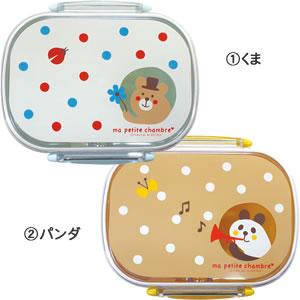 デコレ(DECOLE)タイトランチBOX(1段) 各種【キッズ/お弁当箱】のくまとパンダ画像