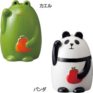 デコレ(DECOLE)concombre まったり貯金箱 福まねきのカエルとパンダの詳細画像