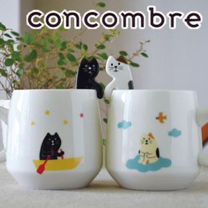 デコレ(DECOLE)concombre まったり猫スプーン付きマグの展示画像