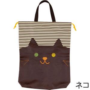デコレ(DECOLE)ララ・ボヤージュ トートきんちゃくのネコ詳細画像。