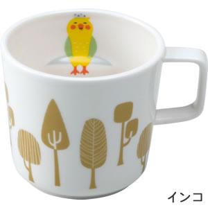 デコレ(DECOLE)concombre 森の秘湯マグ【キッチン雑貨/マグカップ】インコの全体画像