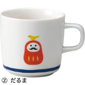 デコレ(DECOLE)concombre 福まねきマグ【キッチン雑貨】だるまの全体画像