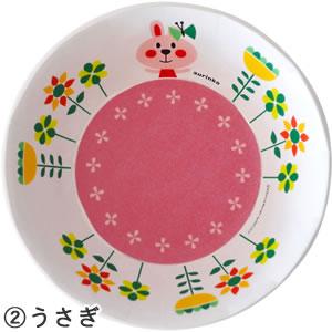 デコレ(DECOLE)aurinko(アウリンコ)メラミンボウル【子供用/食器】うさぎの全体画像