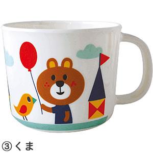 デコレ(DECOLE)aurinko(アウリンコ)メラミンカップ【子供用/食器】うさぎの全体画像