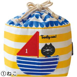 デコレ(DECOLE)aurinko(アウリンコ)保存ランチバッグ【子供用/弁当袋】ねこの全体画像