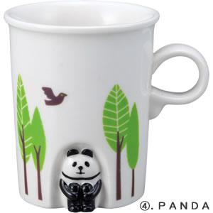 デコレ(DECOLE)concombre ほっこりほこらマグ【食器/マグカップ】パンダの全体画像