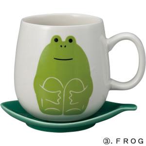 デコレ(DECOLE)concombre 葉っぱマグ【食器/マグカップ】フロッグの全体画像