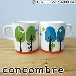 デコレ(DECOLE)concombre まったりペアマグセット【食器/マグカップ】フロッグとパンダのディスプレイ画像