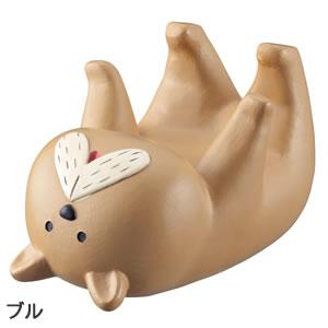 デコレ(DECOLE)ベルモン堂(belmondo)受け身スマホ立て【犬/猫雑貨】ブルの全体画像